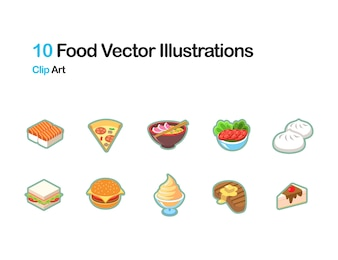 Ilustração vetorial de alimentos