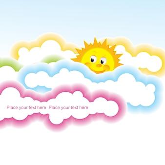 Ilustração vetorial design divertido do verão