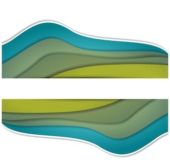 Ilustração vetorial do espaço colorido wavewith para texto