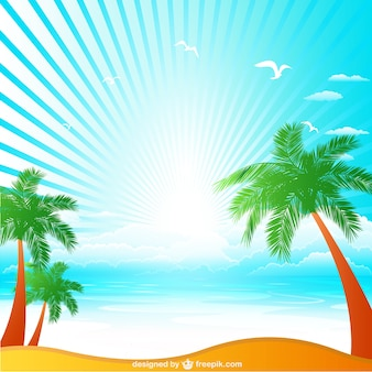 Ilustração vetorial tropical