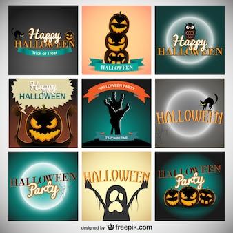 Ilustrações vetoriais halloween embalar