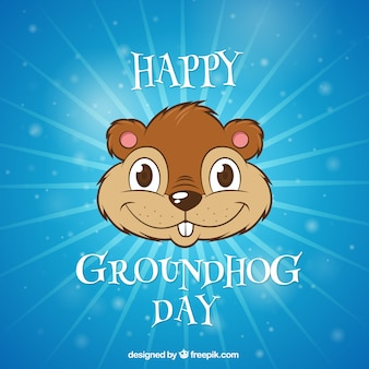 Ilustrado fundo Groundhog Day