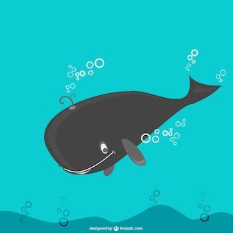 Ilustração vetorial baleia