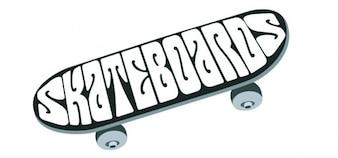 Imagem do skate da vista superior