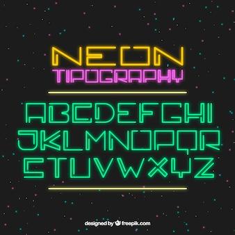 Impressionante tipografia de luzes de néon