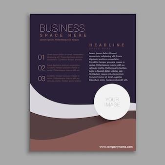Incrível folheto do negócio marrom e roxo em tamanho A4