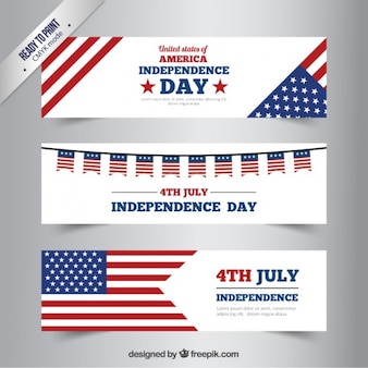 Independence Day Banners Set