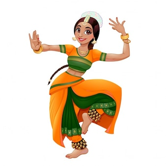 Indiana vector dançarino dos desenhos animados caráter isolado