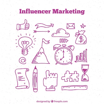 Influenciar o design do doodle de marketing