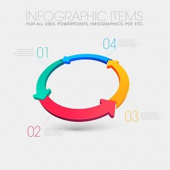Infografia com design de setas