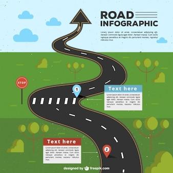 Infografia estrada com a seta