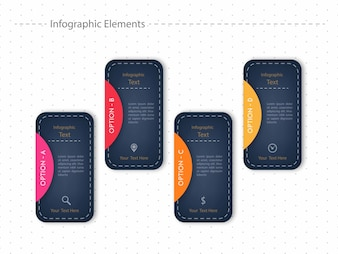 Infográfico colorido escuro com quatro passos