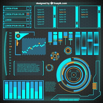 Infográfico futurista abstrato