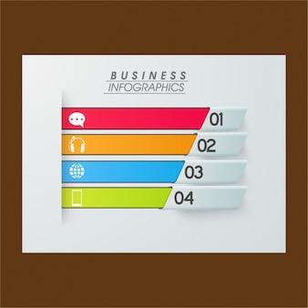Infográfico negócios com quatro opções coloridas