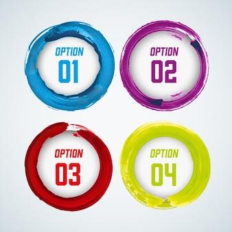 Infographics com quatro opções de cores