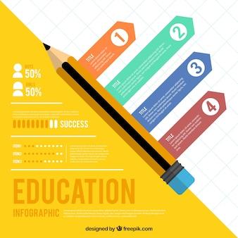 Infográfico da área da educação