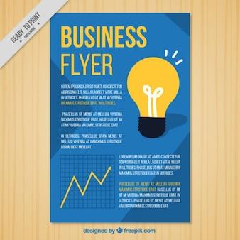 insecto do negócio com uma lâmpada e um gráfico