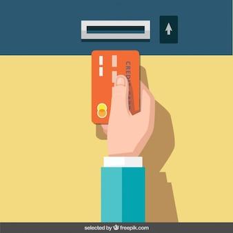 Insira o cartão de crédito