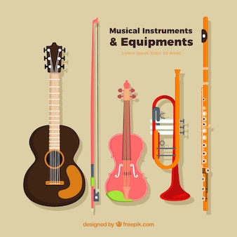 Instrumentos musicais e equipamentos