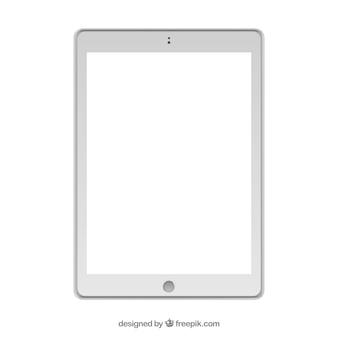 Isolado projeto tablet branco