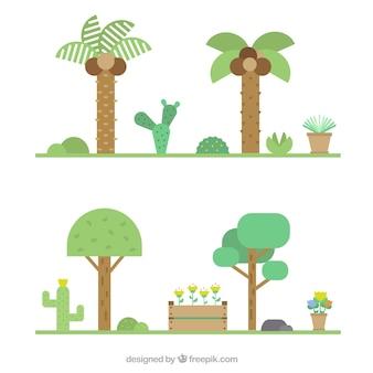 Jardins em ícone de estilo