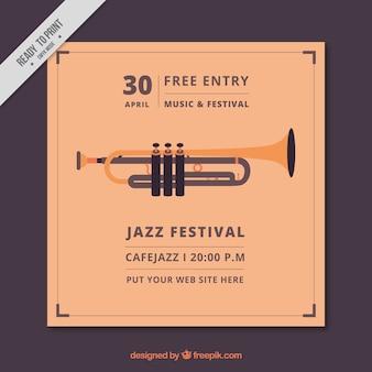 Jazz festival folheto do vintage