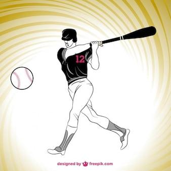 Jogador de beisebol silhueta