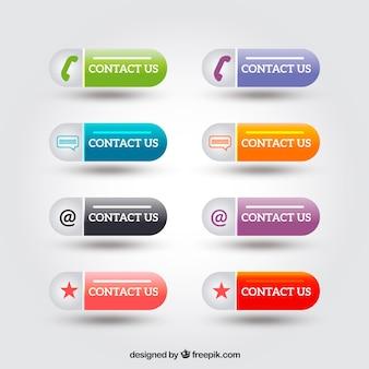 Jogo da tecla do contato moderna