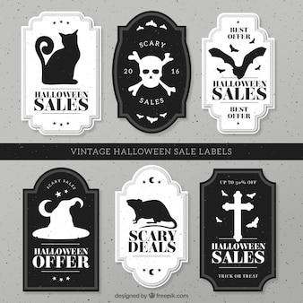Jogo das vendas do vintage do Dia das Bruxas adesivos