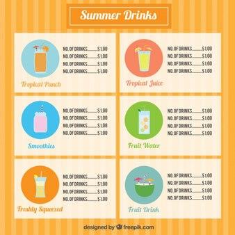 Jogo de bebidas de frutas