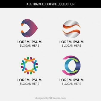 Jogo de logotipos coloridos moderna