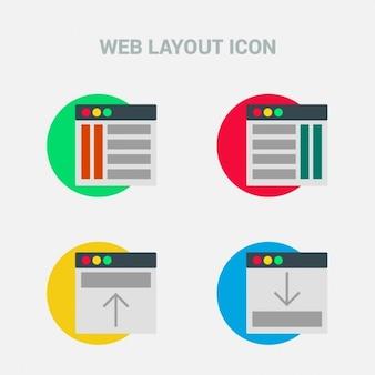 Jogo de quatro ícones da interface do usuário