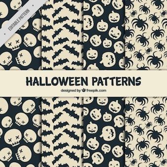 Jogo de testes padrões assustadores prontos para Halloween