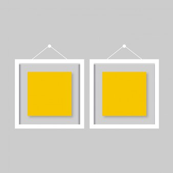 Jogo do frame de retrato do ouro do vintage isolado com trajeto de grampeamento