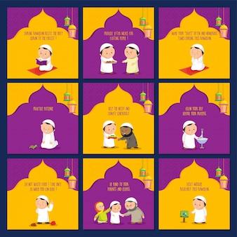 Jogo dos cartões Ramadan