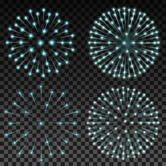 Jogo, vetorial, fogos artifício, transparente, fundo