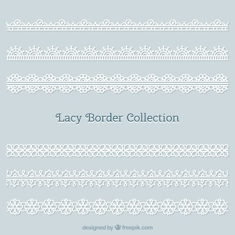 Lace border pack for decoration