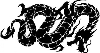 Lado chinês cobra dragão