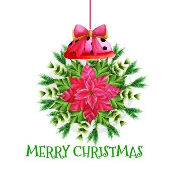 Lâmpada floral de natal