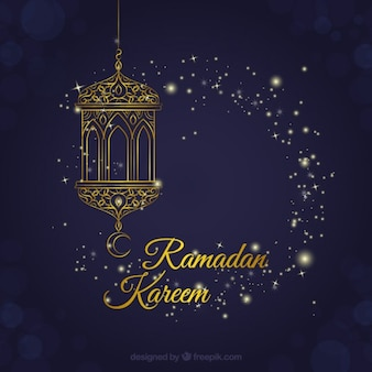 Lanterna fundo decorativo ramadan