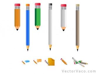Lápis colorido com borracha