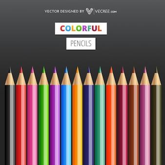 Lápis coloridos afiados