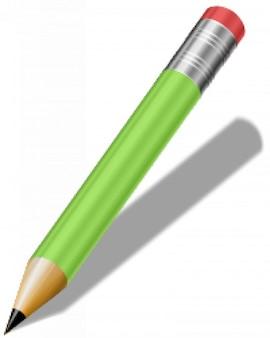 lápis realistas de curto