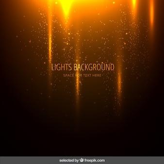 Laranja ilumina o fundo