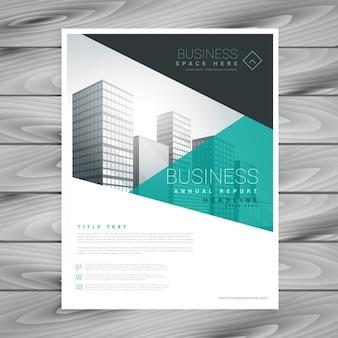 Layout de brochura de apresentação modelo de panfleto