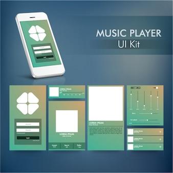 Leitor de música aplicativo móvel