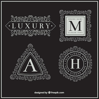 Letra maiúscula coleção logo luxo