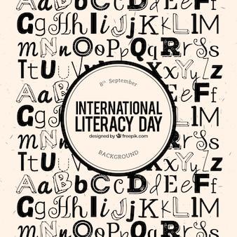 Letras do fundo do dia de alfabetização