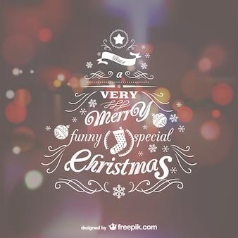 Lettering árvore de Natal