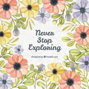 lettering floral desenhado mão com a frase positiva